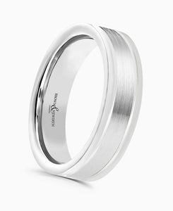 Brown & Newirth Affinity Patterned Wedding Ring in Platinum