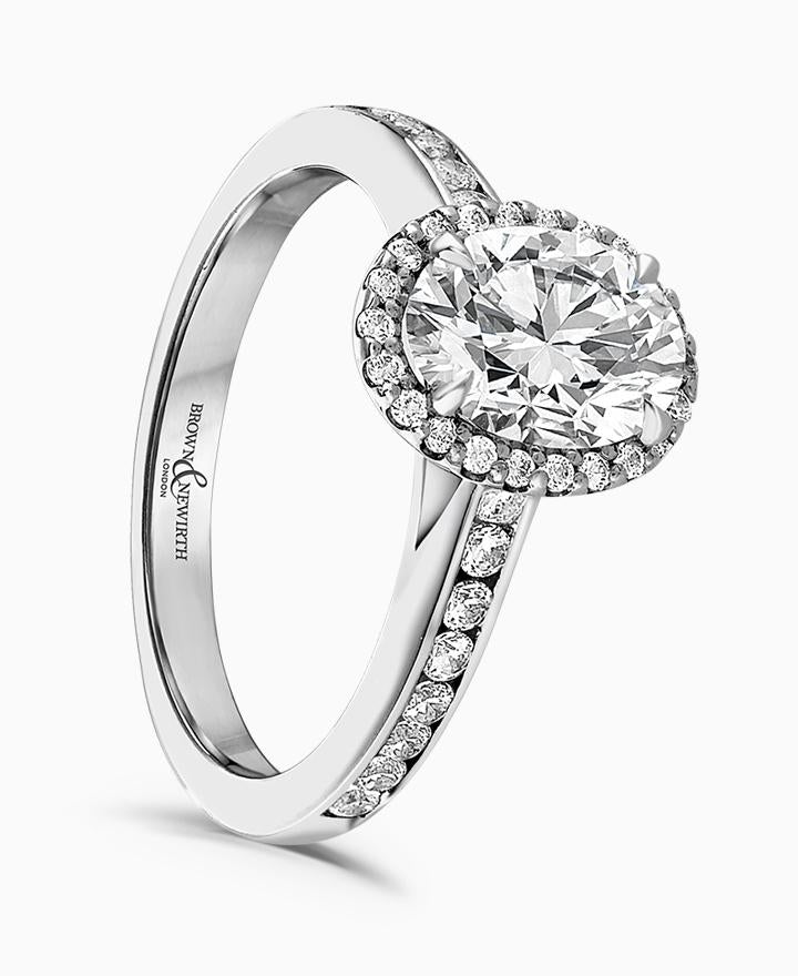 Brown & Newirth Astrid 0.50ct Diamond Halo Engagement Ring in Platinum