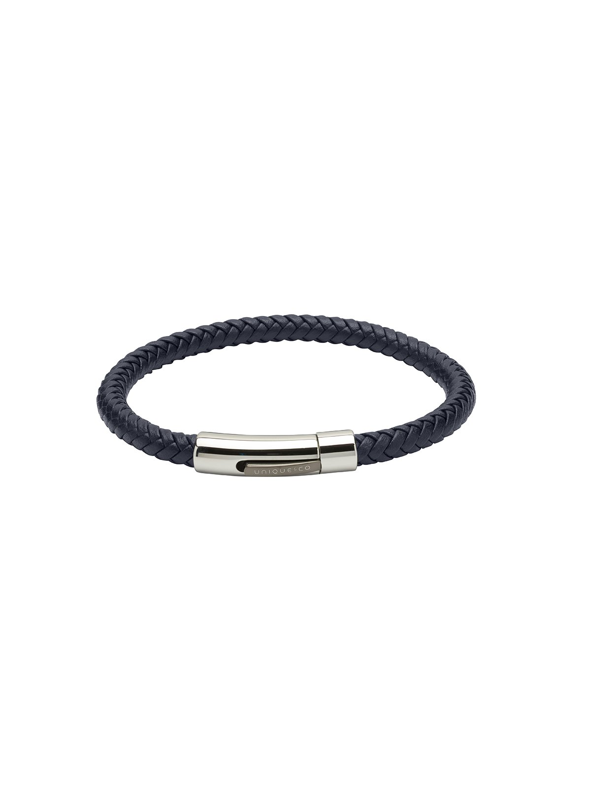 Unique & Co. 21cm Blue Leather Bracelet B371BLUE/21CM
