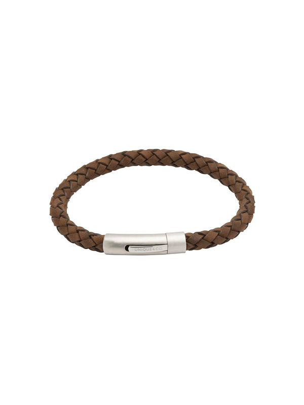 Unique & Co. 21cm Dark Brown Leather Bracelet B399DB/21CM