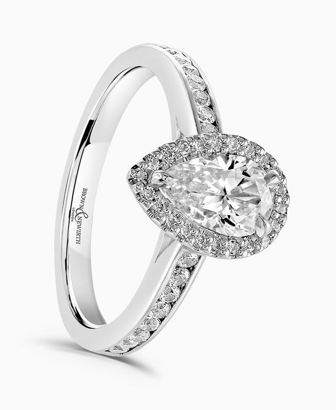 Brown & Newirth Bellatrix 0.50ct Diamond Halo Engagement Ring in Platinum