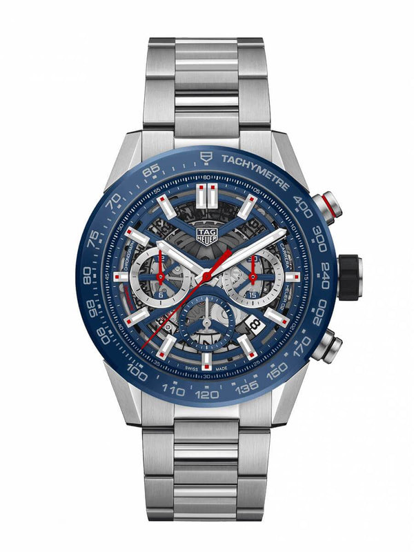 TAG Heuer Gents 45mm Carrera Calibre Heuer 02 Automatic Chronograph Watch on Bracelet CBG2A11.BA0654