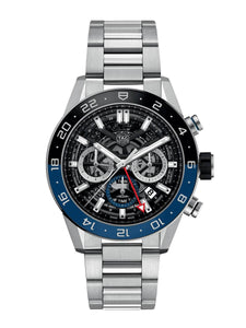 TAG Heuer Gents 45mm Carrera Calibre Heuer 02 Automatic Chronograph Steel Watch on Bracelet CBG2A1Z.BA0658