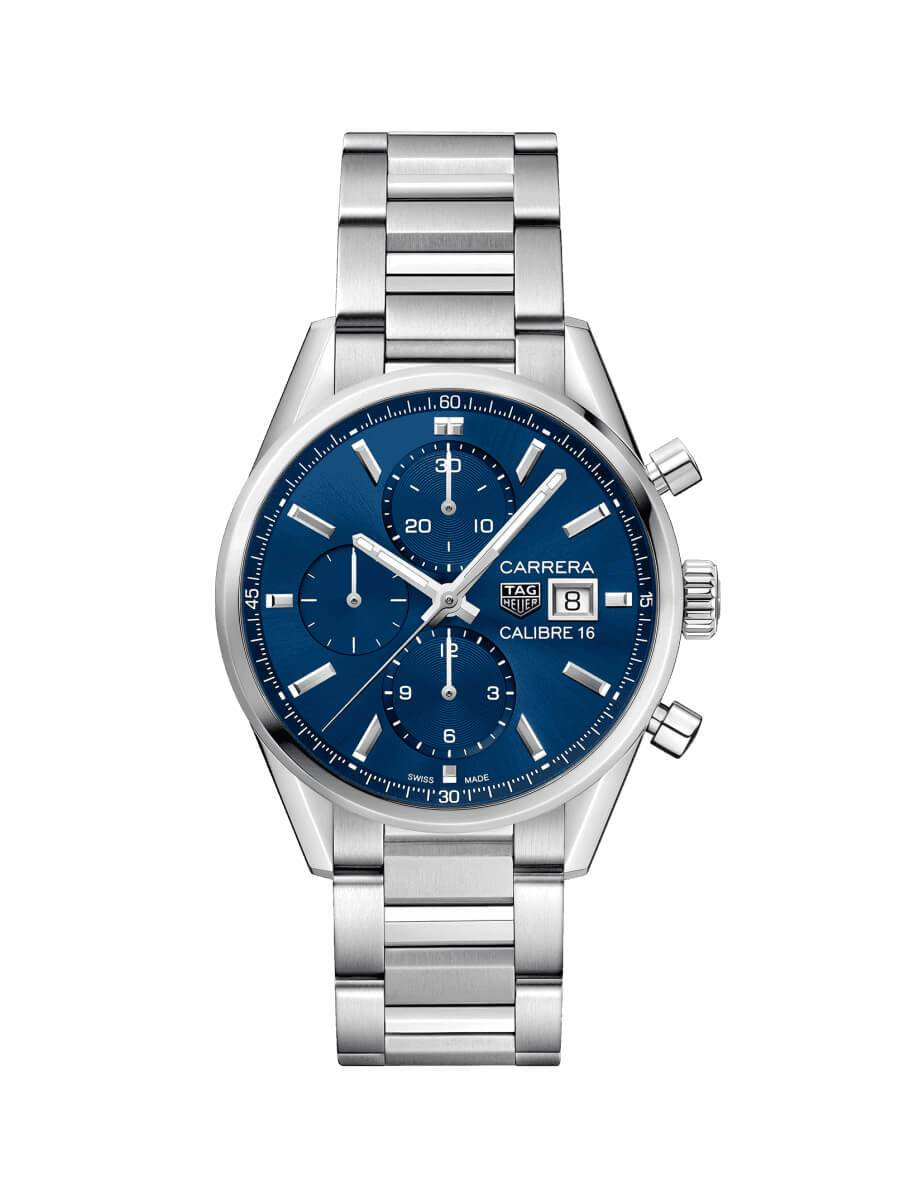 TAG Heuer Gents 41mm Carrera Stainless Steel Automatic Chronograph Watch on Bracelet CBK2112.BA0715