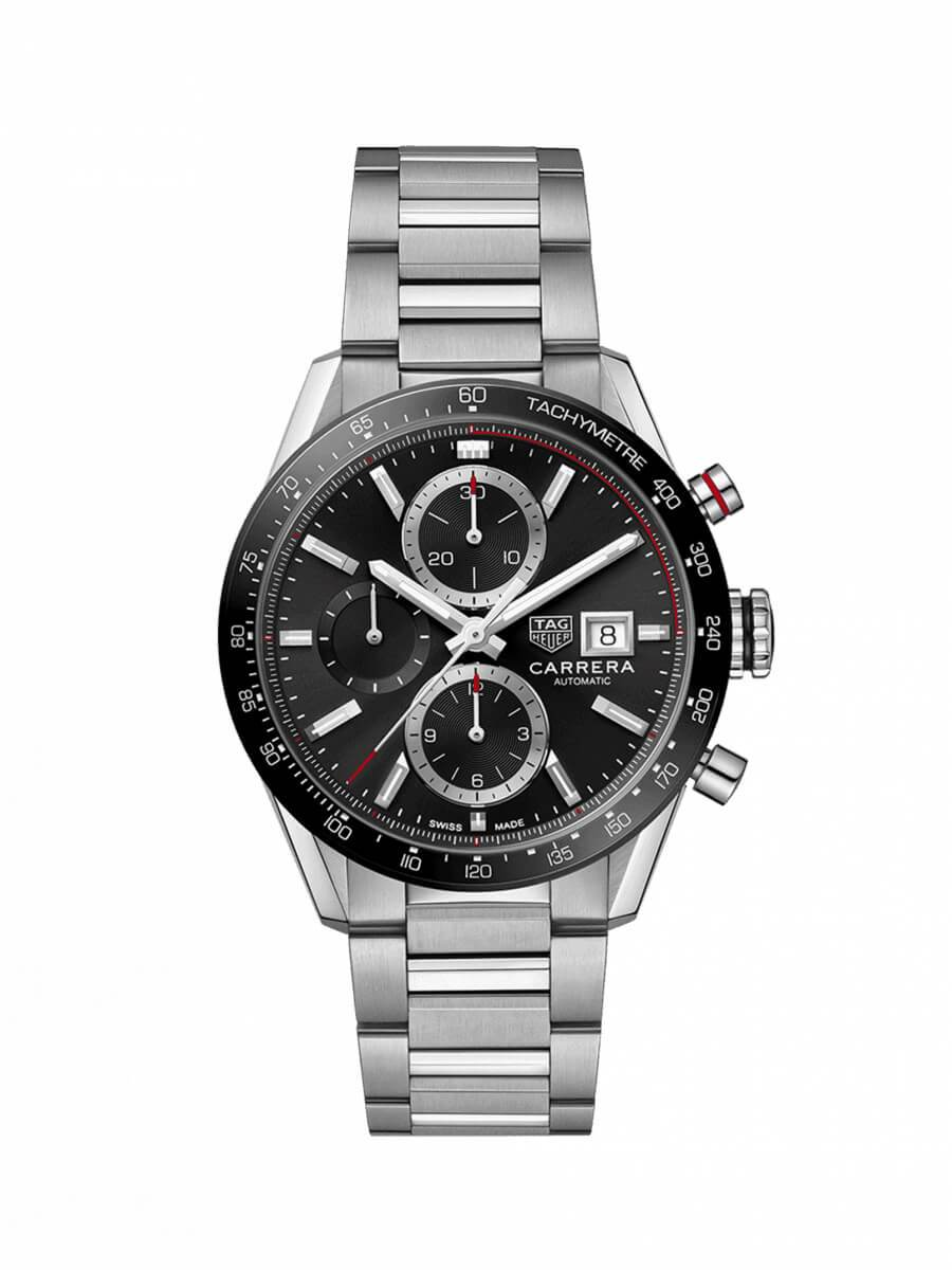 TAG Heuer Gents 41mm Carrera Stainless Steel Automatic Chronograph Watch on Bracelet