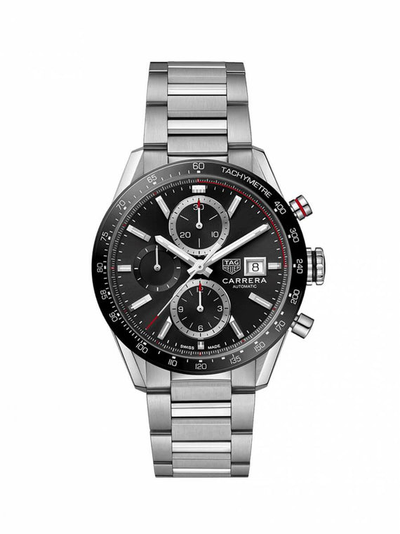TAG Heuer Gents 41mm Carrera Stainless Steel Automatic Chronograph Watch on Bracelet CBM2110.BA0651