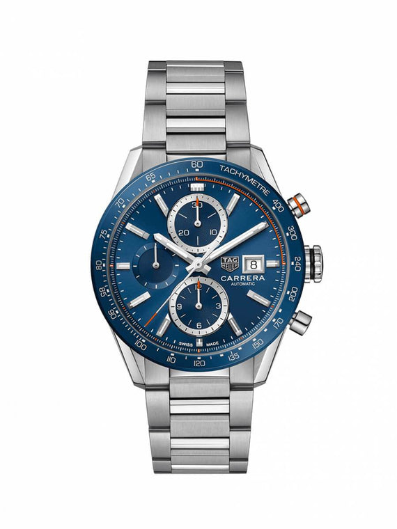 TAG Heuer Gents 41mm Carrera Stainless Steel Automatic Chronograph Watch on Bracelet CBM2112.BA0651