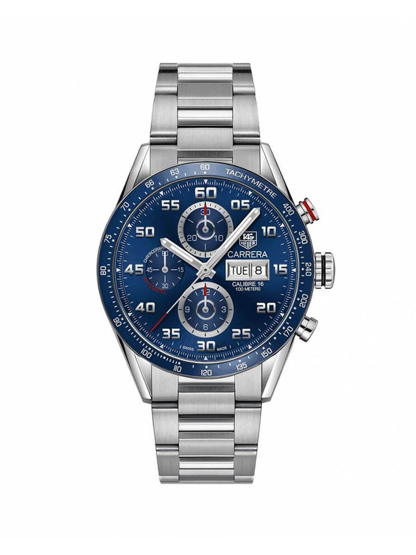 TAG Heuer Gents 43mm Carrera Day-Date Stainless Steel Automatic Watch on Bracelet CV2A1V.BA0738