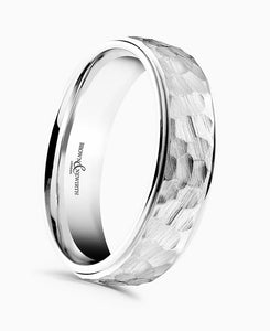Brown & Newirth Cabala Patterned Wedding Ring in Platinum