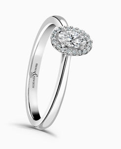 Brown & Newirth Carina 0.50ct Diamond Halo Engagement Ring in Platinum