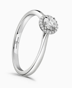 Brown & Newirth Celeste 0.25ct Diamond Halo Engagement Ring in Platinum