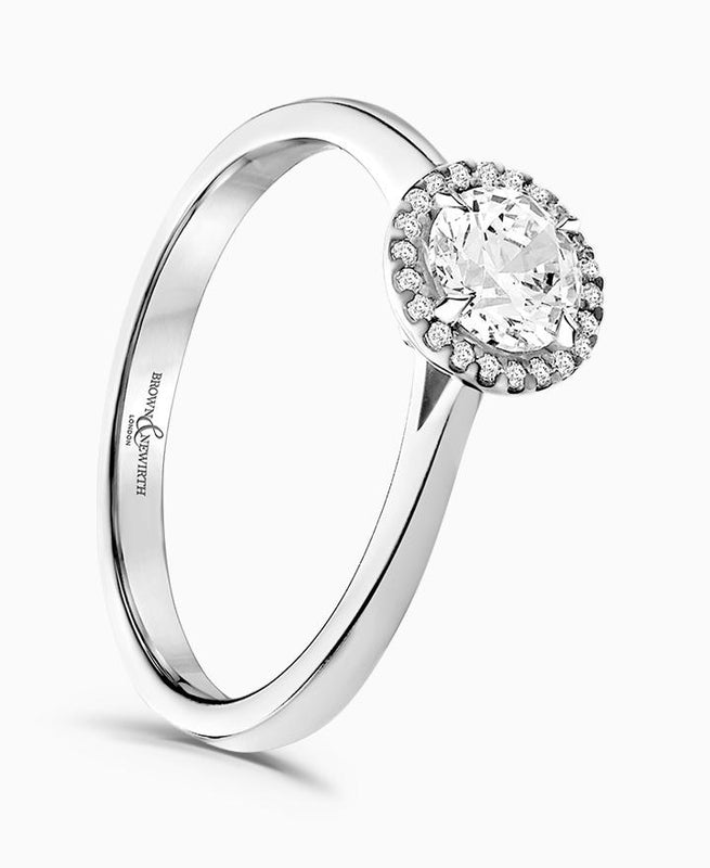 Brown & Newirth Celeste 0.50ct Diamond Halo Engagement Ring in Platinum
