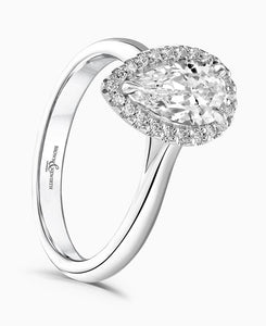 Brown & Newirth Cordelia 0.30ct Diamond Halo Engagement Ring in Platinum