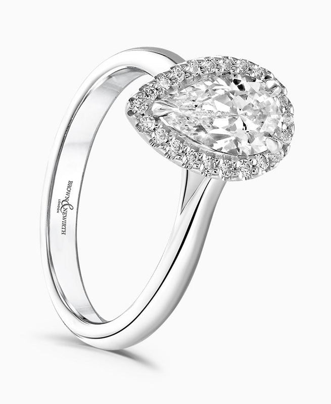 Brown & Newirth Cordelia 0.70ct Diamond Halo Engagement Ring in Platinum
