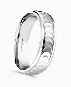 Brown & Newirth Eclipse Patterned Wedding Ring in Platinum