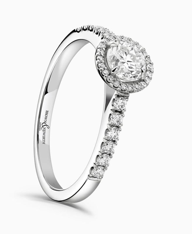 Brown & Newirth Estella 0.50ct Diamond Halo Engagement Ring in Platinum