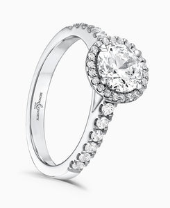 Brown & Newirth Estella 0.70ct Diamond Halo Engagement Ring in Platinum