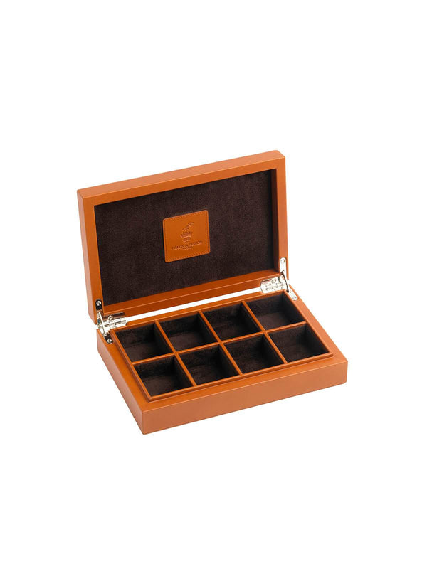 Deakin & Francis Tan Leather Cufflink Box G04120001