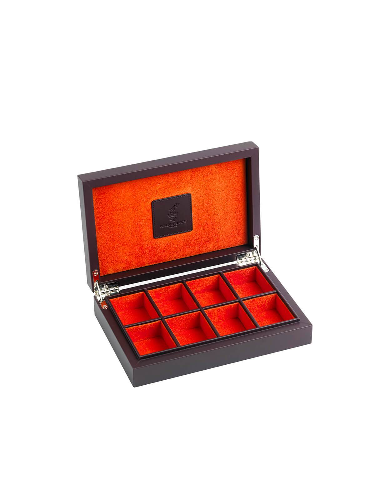 Deakin & Francis Burgundy Leather Cufflink Box G04120003