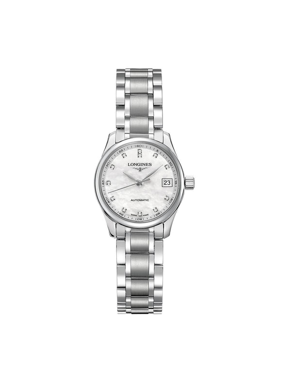 L2.128.4.87.6 Longines Ladies 25.5mm Master Collection Steel Automatic Watch on Bracelet