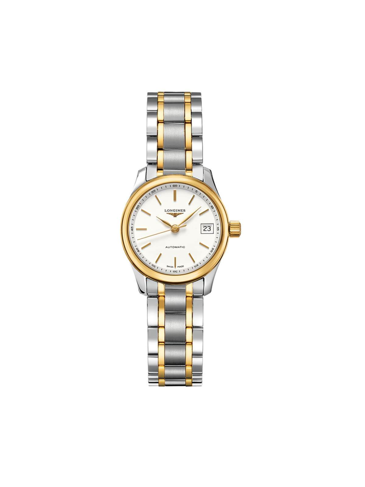 L2.128.5.12.7 Longines Ladies 25.5mm Master Collection Steel & Gold Automatic Watch on Bracelet