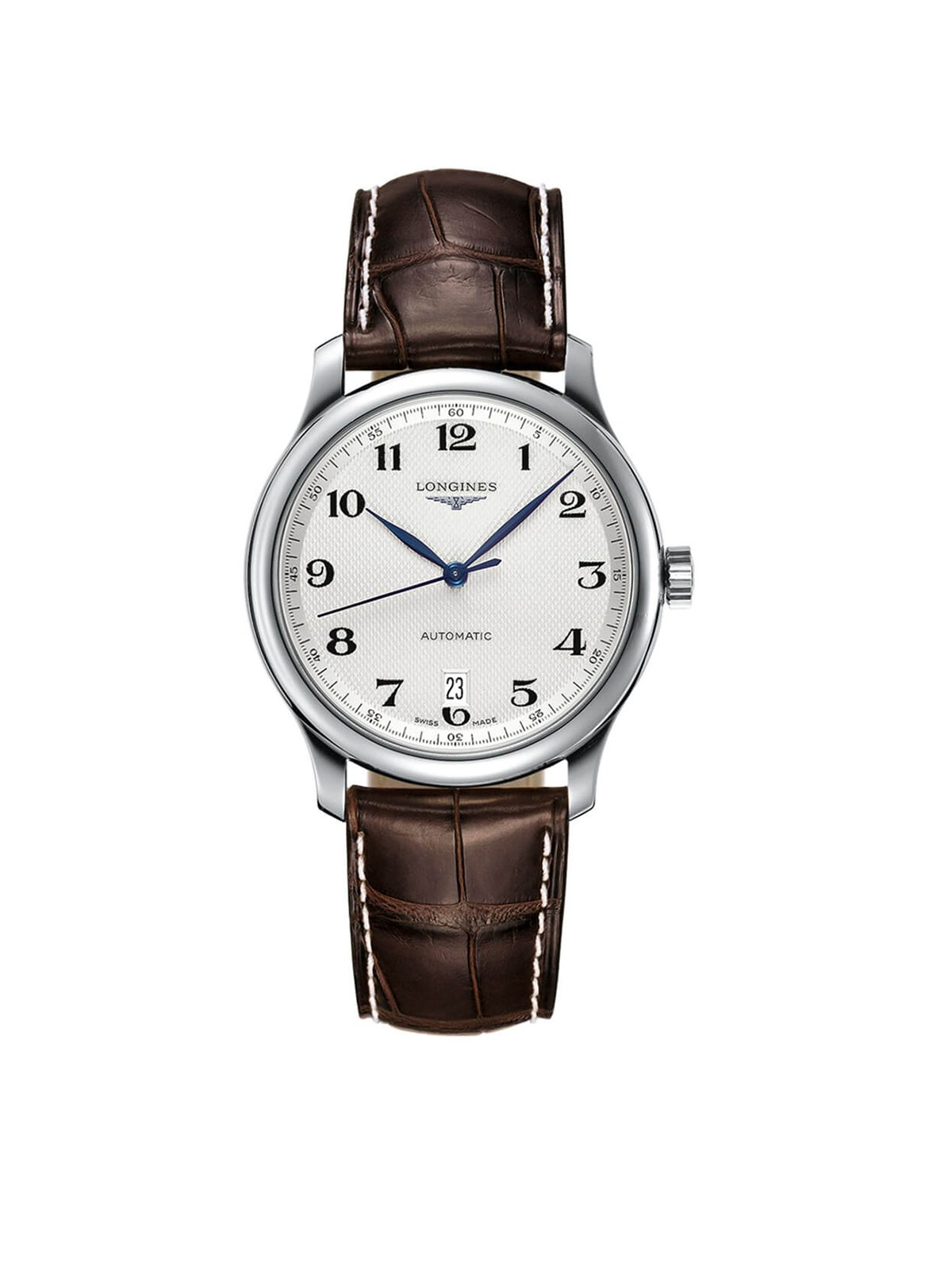 Longines Gents 38.5mm Master Collection Stainless Steel Automatic Watch on Leather Strap L2.628.4.78.3