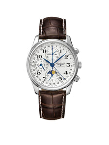 L2.673.4.78.3 Longines Gents 40mm Master Collection Steel Automatic Chronograph Watch on Leather Strap