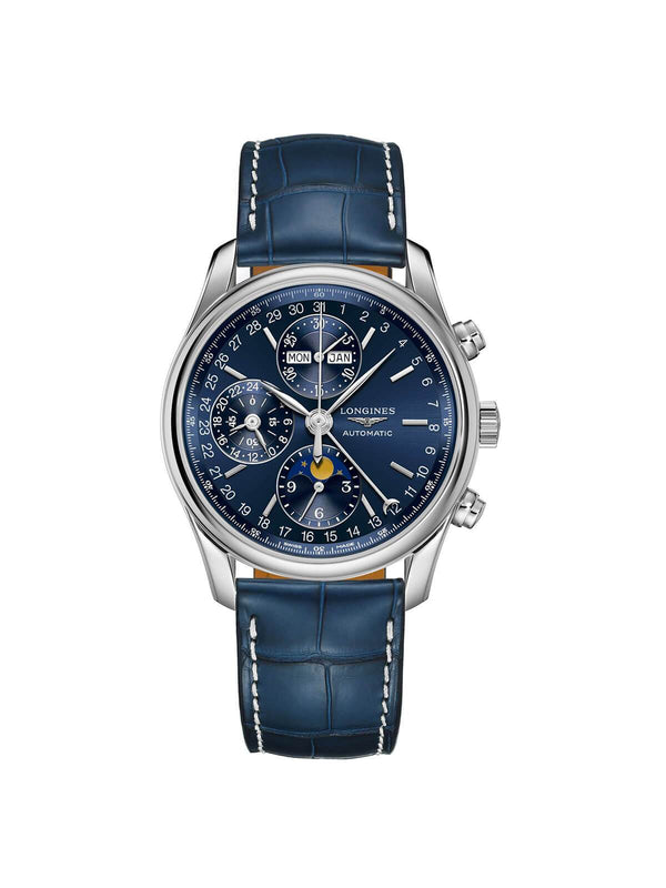 Longines Gents 40mm Master Collection Steel Automatic Chronograph Watch on Leather Strap L2.673.4.92.0