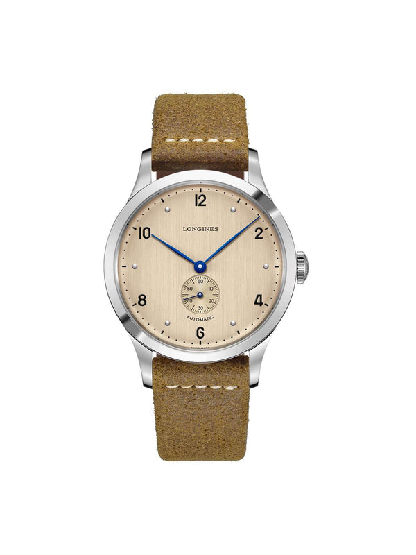 Longines Gents 40mm The Longines Heritage 1945 Stainless Steel Automatic Watch on Leather Strap L2.813.4.66.0
