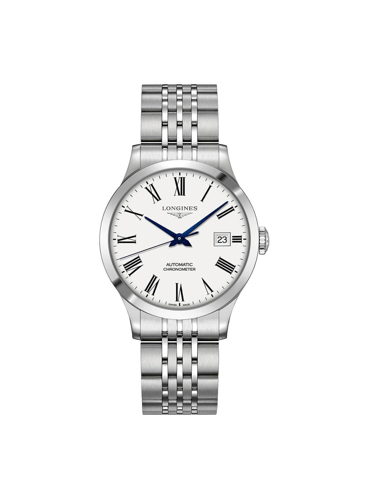 Longines Gents 38.5mm Record Stainless Steel Automatic Watch on Bracelet L2.820.4.11.6