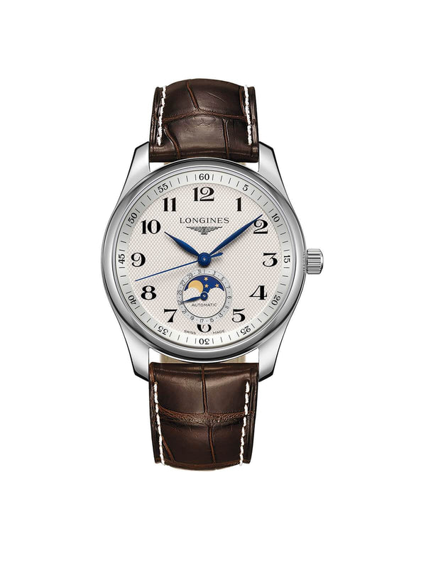 L2.909.4.78.3 Longines Gents 40mm Master Collection Steel Automatic Chronograph Watch on Leather Strap
