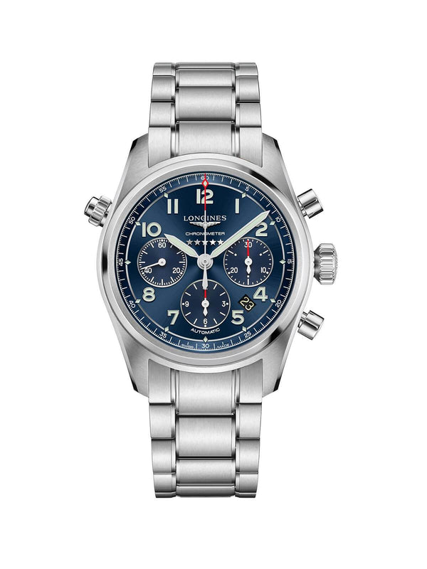 Longines Spirit Gents Chronograph Watch 42mm L3.820.4.93.6
