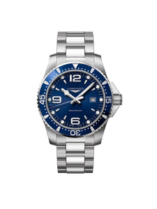 Longines Gents 44mm HydroConquest Stainless Steel Quartz Watch on Bracelet L3.840.4.96.6