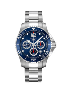 L3.883.4.96.6 Longines Gents 43mm HydroConquest Steel Automatic Chronograph Watch on Bracelet