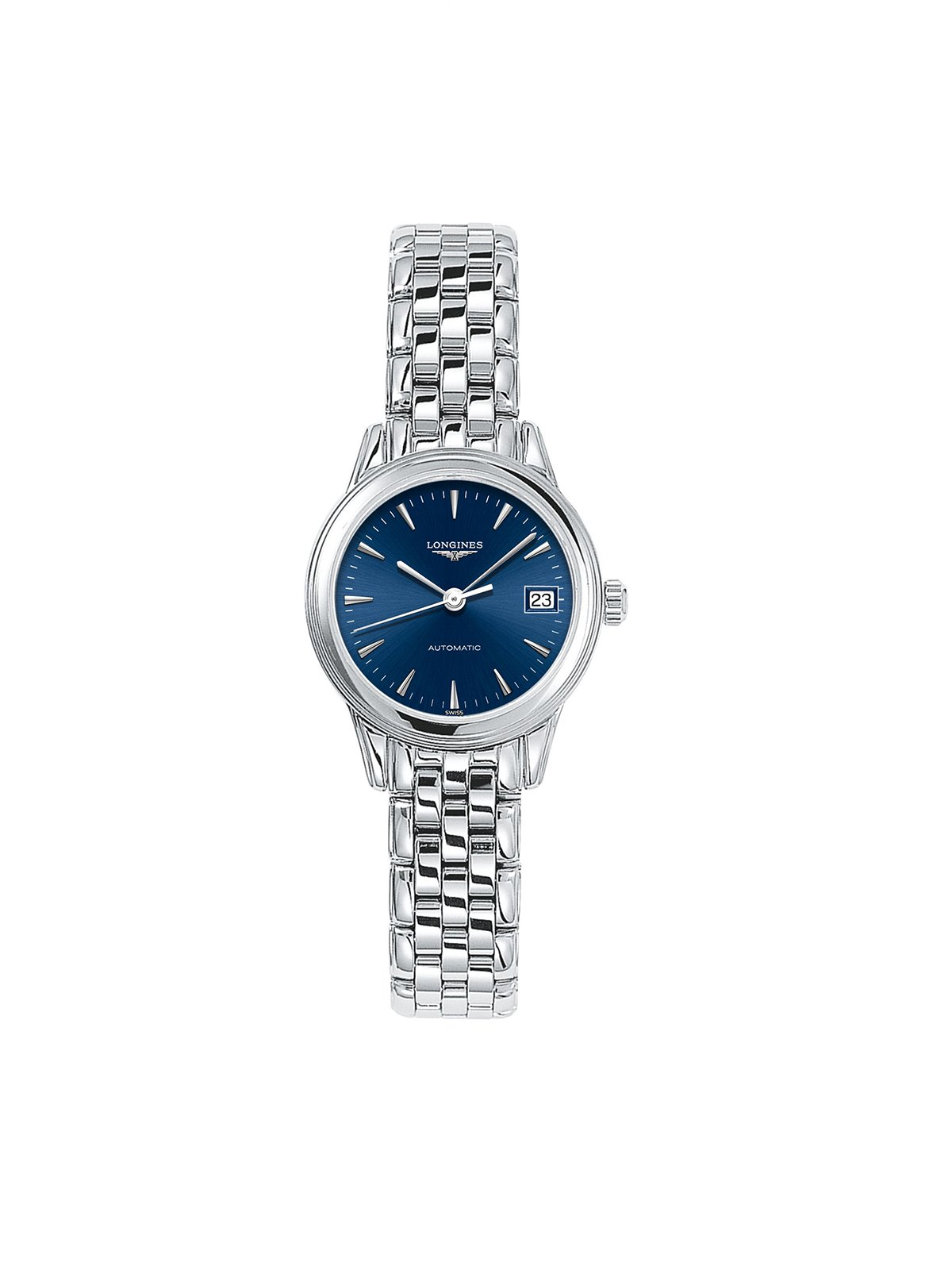 L4.274.4.92.6 Longines Ladies 26mm Flagship Steel Automatic Watch on Bracelet