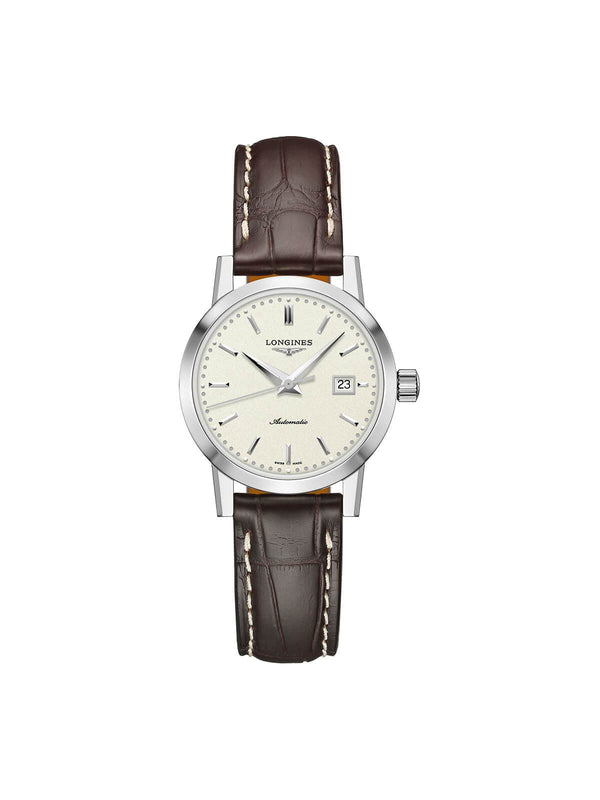 Longines Ladies 30mm The Longines 1832 Stainless Steel Automatic Watch on Leather Strap L4.325.4.92.2