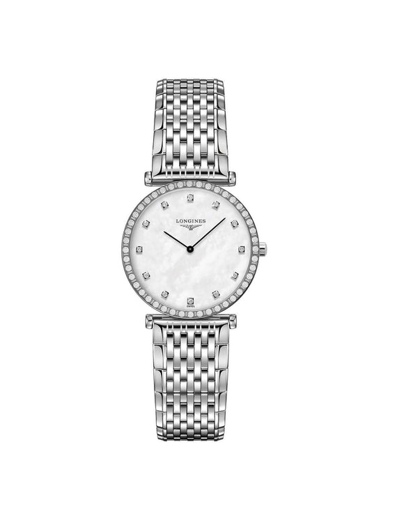 Longines Ladies 29mm La Grande Classique Diamond Set Stainless Steel Quartz Watch on Bracelet