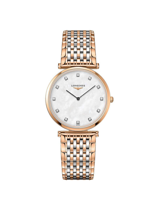 Longines Ladies 33mm La Grande Classique Rose Gold PVD Stainless Steel Quartz Watch on Bracelet L4.709.1.88.7