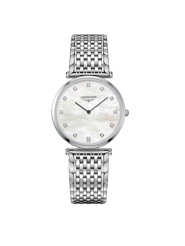 Longines Ladies 33mm La Grande Classique Steel Quartz Watch on Bracelet L4.709.4.88.6