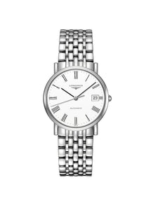 L4.809.4.11.6 Longines Ladies 34.5mm Elegant Collection Steel Automatic Watch on Bracelet