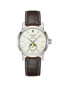 Longines Gents 40mm The Longines 1832 Steel Automatic Watch on Leather Strap L4.826.4.92.2