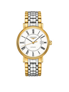 L4.922.2.11.7 Longines Gents 40mm Presence Gold PVD Steel Automatic Watch on Bracelet
