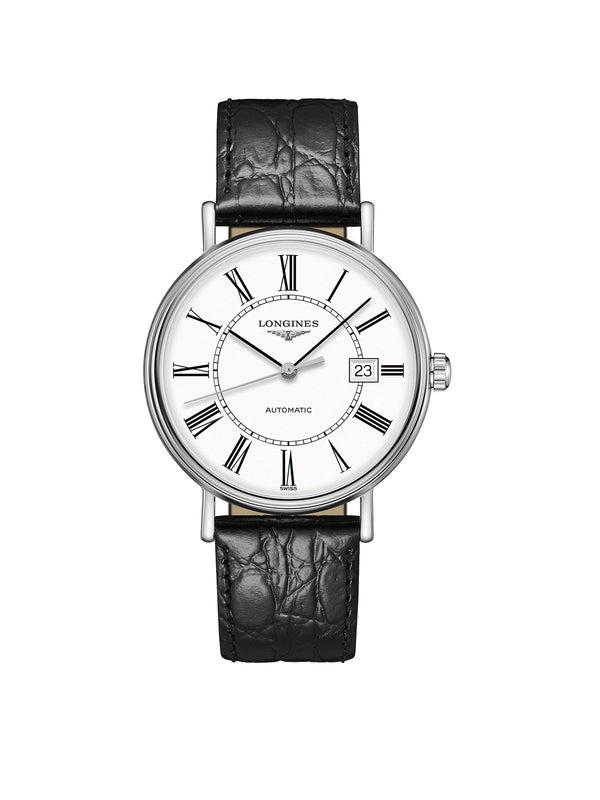 L4.922.4.11.2 Longines Gents 40mm Presence Steel Automatic Watch on Leather Strap