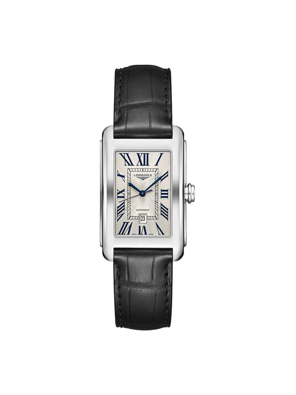 Longines Ladies 27.7 x 43.8mm DolceVita Stainless Steel Quartz Watch on Leather Strap L5.757.4.71.0