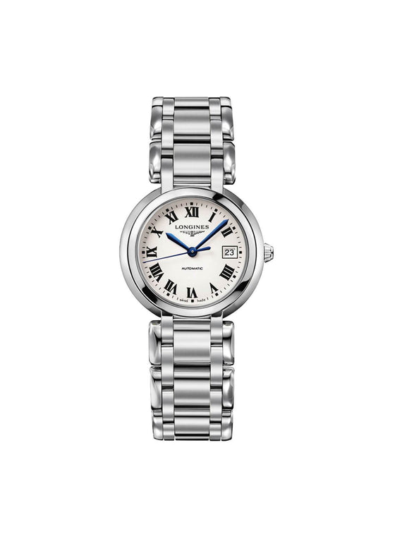 Longines Ladies 30mm PrimaLuna Steel Automatic Watch on Bracelet L8.113.4.71.6