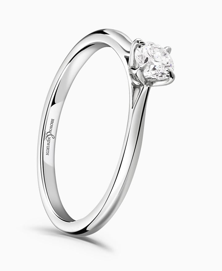 Brown & Newirth Magnolia 0.25ct Certificated Diamond Engagement Ring in Platinum