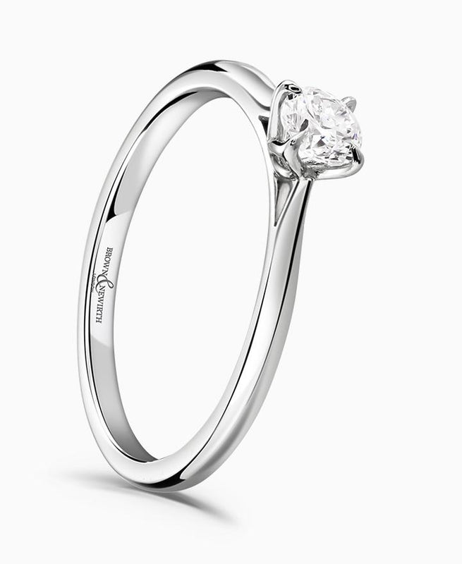 Brown & Newirth Magnolia 0.33ct Diamond Engagement Ring in Platinum