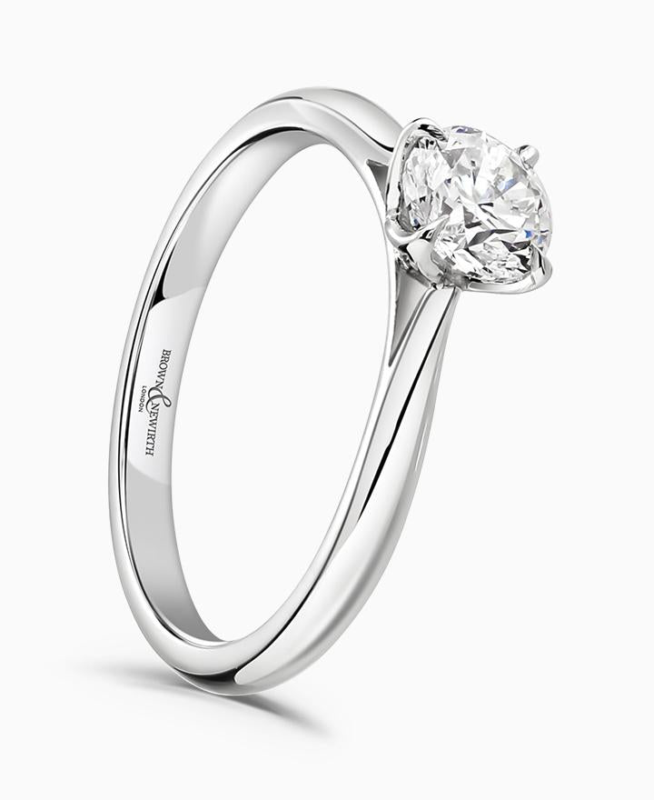 Brown & Newirth Magnolia 0.70ct Diamond Engagement Ring in Platinum