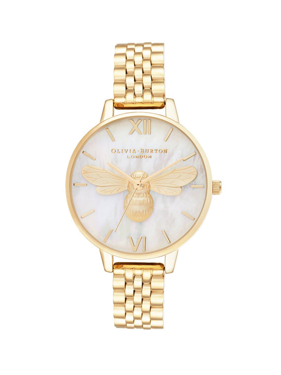 Olivia Burton Lucky Bee Gold Bracelet Watch 34mm OB16FB18