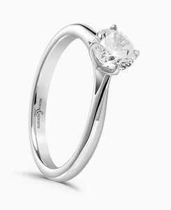 Brown & Newirth Orchid 0.25ct Diamond Engagement Ring in Platinum